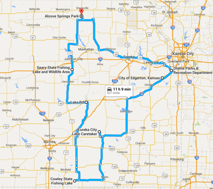 Unforgettable Road Trips To Take In Kansas Before You Die - Kansas road map