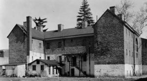 A historic shot of Burlington County Prison taken in 1937.