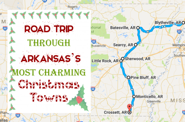 Unforgettable Road Trips For Your Arkansas Bucket List - Arkansas road map