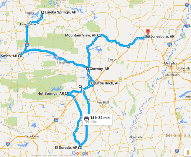 Unforgettable Road Trips For Your Arkansas Bucket List - Road map of arkansas