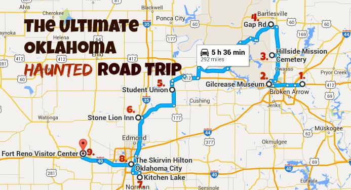 haunted oklahoma road trip matthew rutledgeflickr googlemapscom
