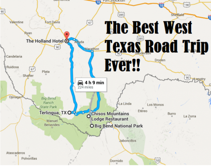 Amazing Unforgettable Texas Road Trips To Take - Map of west texas