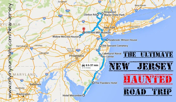 The Ultimate New Jersey Road Trip Bucket List For - Nj road map