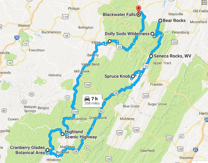 Unforgettable Road Trips To Take In West Virginia - West virginia road map
