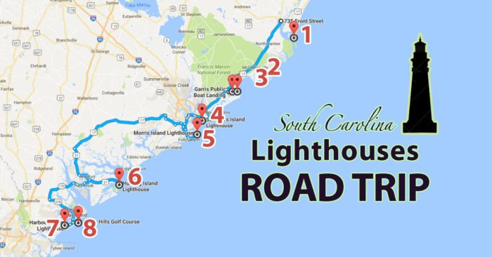 MustDo South Carolina Road Trips With Maps Included - Road map of north and south carolina