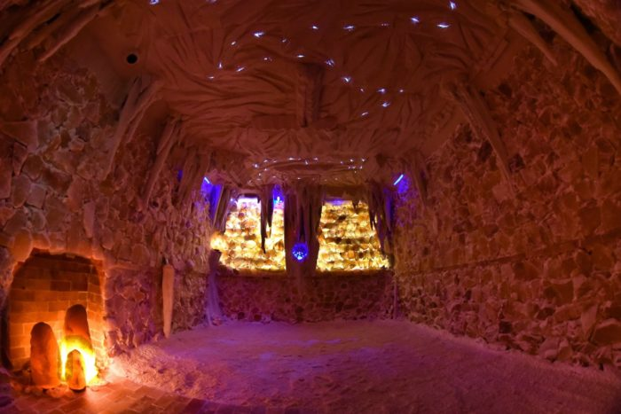 The salt cave in south carolina is a relaxing himalayan for 4 elements salon