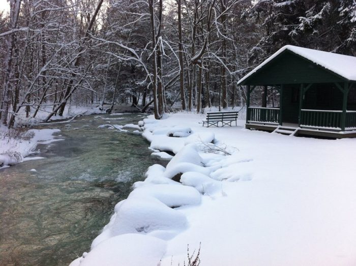 Many Of The Cabins Feature Breathtaking Waterfront Views That Are Unique To  See During Our Winter Months.