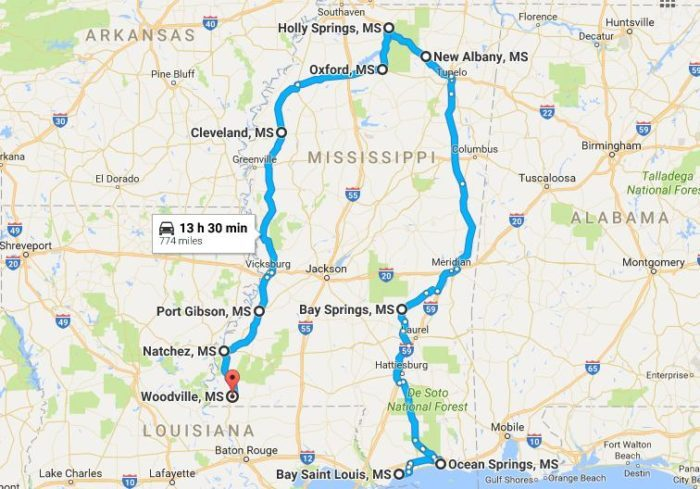 Northeast Road Trip >> 9 Amazing, Unforgettable Mississippi Road Trips To Take