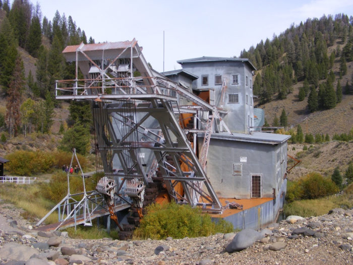 Historic Gold Dredges : The yankee fork gold dredge in idaho is truly one of a kind