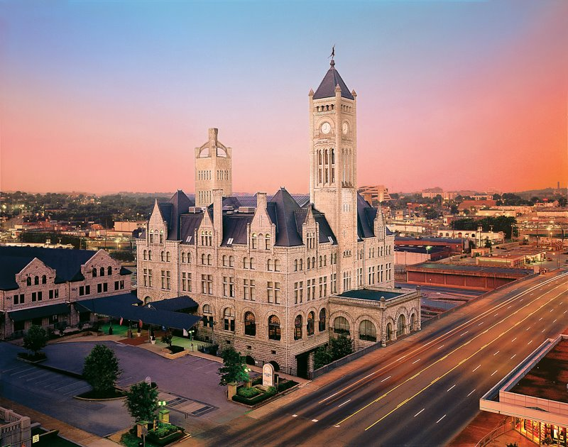 the old train station in nashville is actually a restaurant. Black Bedroom Furniture Sets. Home Design Ideas