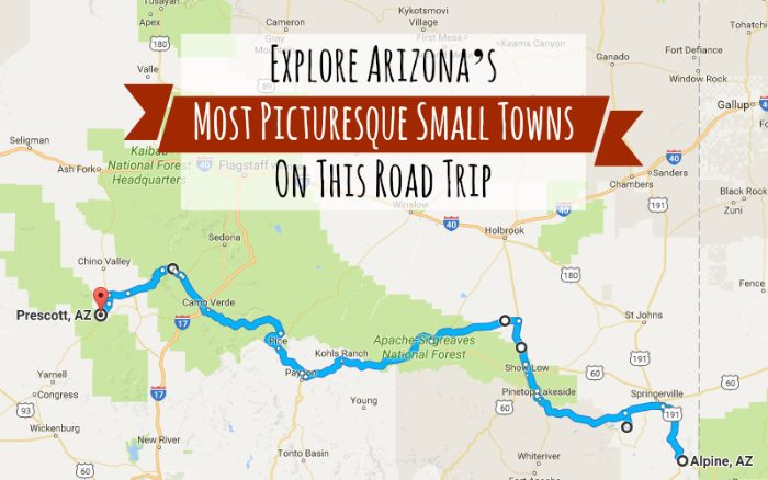 Road Trips In Arizona For Your Bucket List - Az road map