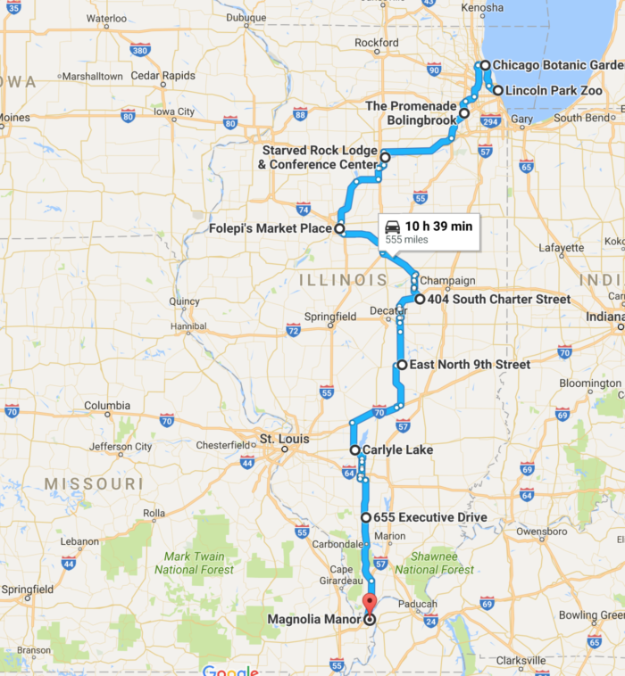 Road Trips In Illinois Everyone Should Take At Least Once - Illinois road map
