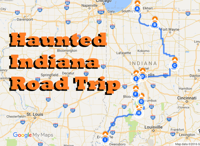The Ultimate Road Trips To Take Across Indiana - Indiana road map