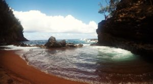 One Of The World's Only Red Sand Beaches Is Right Here In Hawaii