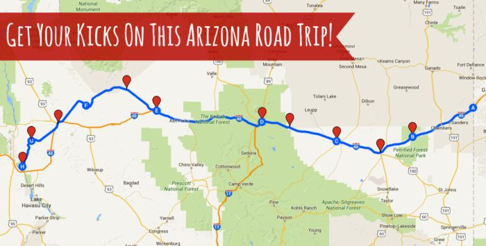 Road Trips In Arizona For Your Bucket List - Road map of arizona
