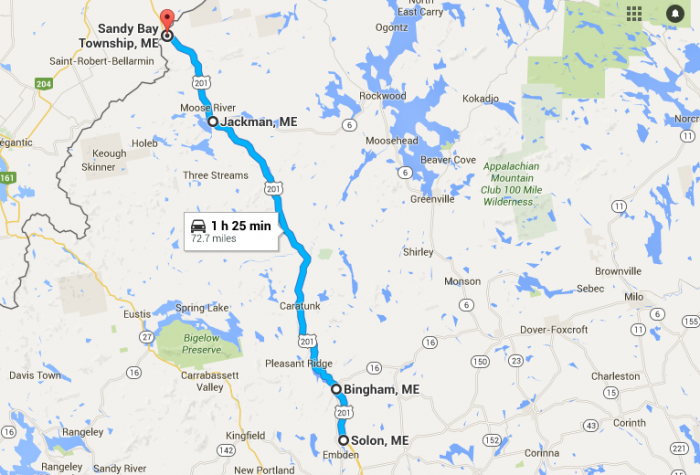 Unforgettable Road Trips To Take In Maine Before You Die - Maine road map