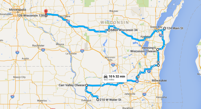 Epic Cheese Lovers Road Trip Through Wisconsin Google Maps