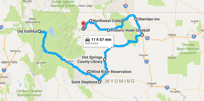 Unforgettable Wyoming Road Trips To Take In - Road map of wyoming