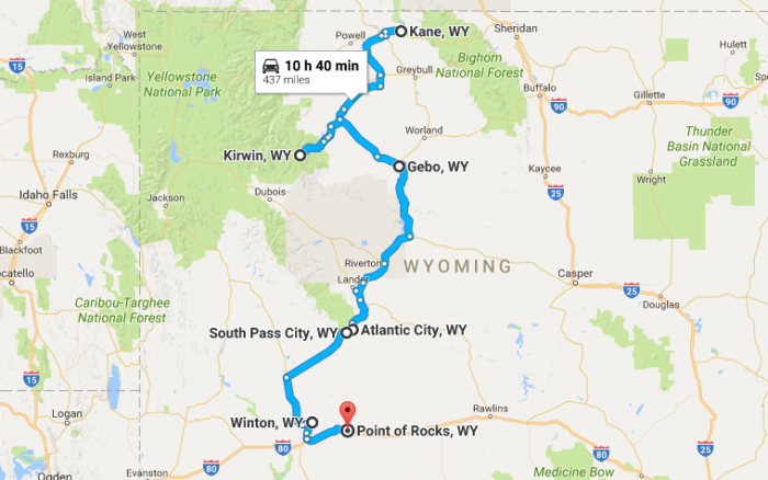 Unforgettable Wyoming Road Trips To Take In - Detailed map of wyoming