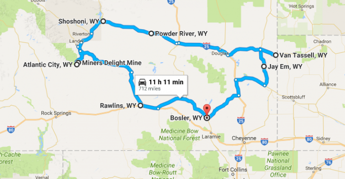 Unforgettable Wyoming Road Trips To Take In - Cities in wyoming map