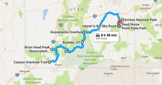 Unforgettable Utah Road Trips To Take In - Utah road map