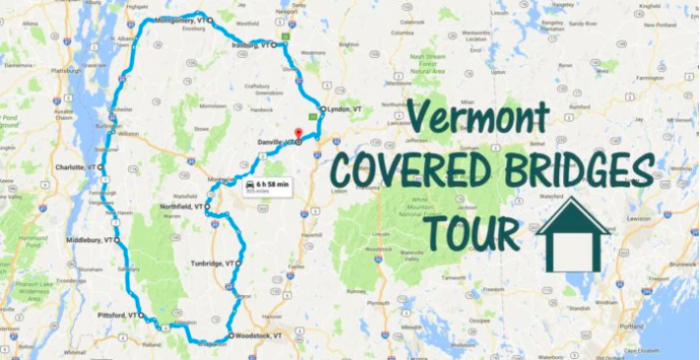 Unforgettable Road Trips To Take In Vermont Before You Die - Road map of vermont