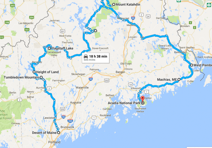 Unforgettable Road Trips To Take In Maine Before You Die - Road map maine