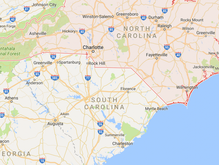 New Law Reinstates The Border Of South Carolina Some Families - Road map of north and south carolina