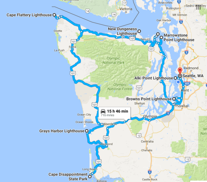 Lighthouses In Oregon Map.Take This Scenic Lighthouse Trip Along The Washington Coast