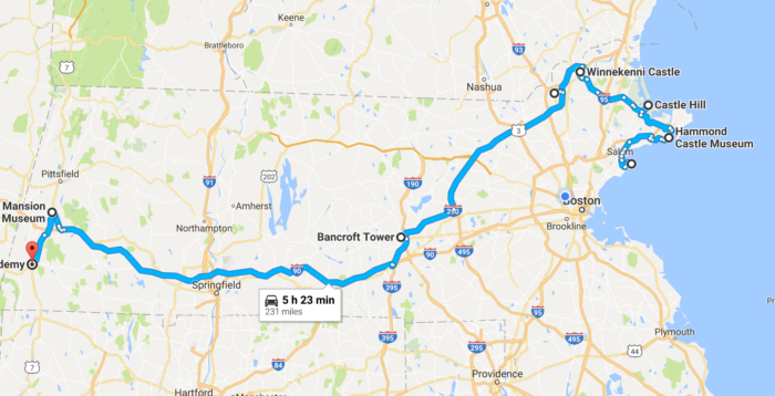 This Road Trip To Massachusetts Most Majestic Castles Is Like - Road map of massachusetts