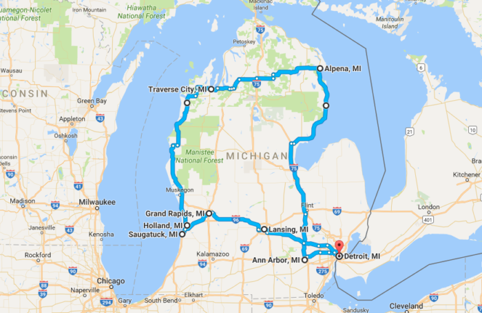 This Itinerary Makes For A Perfect Week In Michigans Lower Peninsula