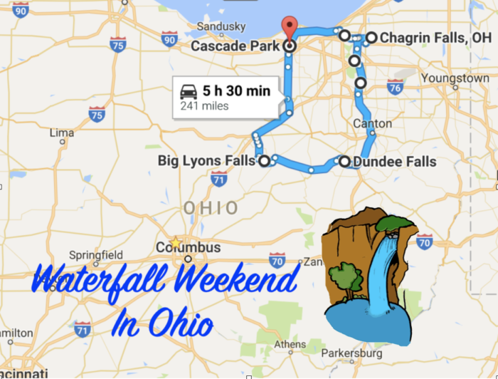 the perfect ohio waterfall weekend itinerary