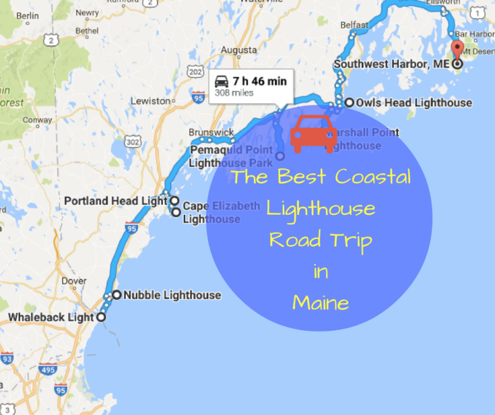 The Lighthouse Road Trip On The Maine Coast Thats Dreamily Beautiful - Google maps maine