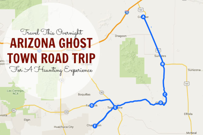 Ghost Towns In Arizona Map 6 Road Trips In Arizona For Your Bucket List