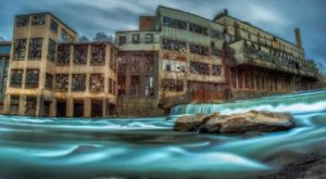 Drone Footage Captured At This Abandoned Delaware Mill Is Truly Grim