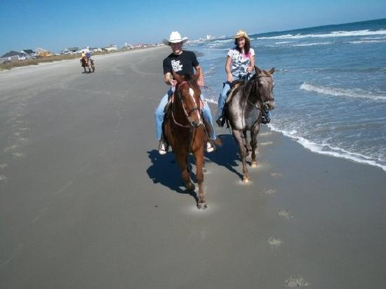 horseback riding of myrtle beach offers a winter ride