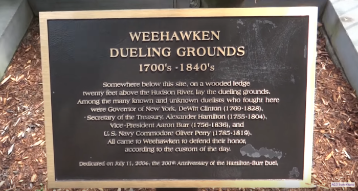 The Deadly History Of Weehawken Dueling Grounds In New Jersey