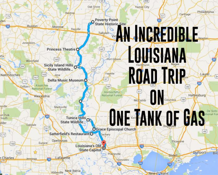Unforgettable Road Trips To Take In Louisiana Before You Die - Road map of louisiana