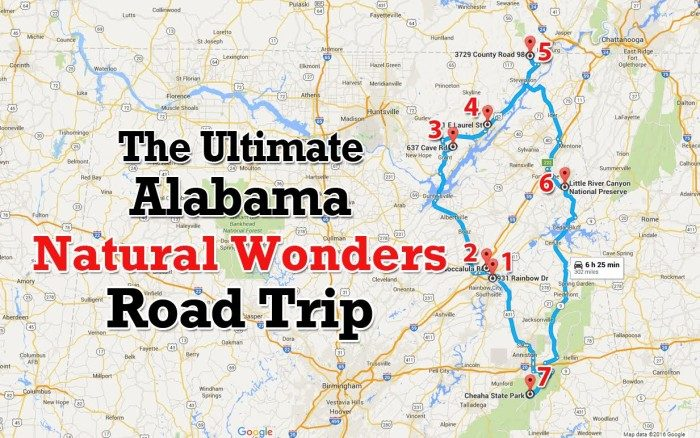 Amazing Alabama Road Trips To Take In - Alabama road map