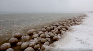 Lake Michigan Has Transformed Into A Sea Of Ice Balls And It's Mesmerizing