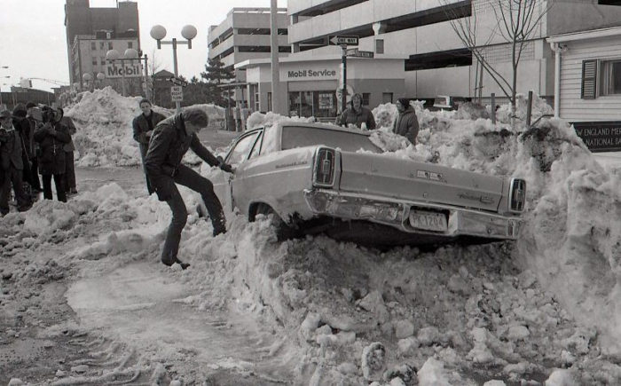 A Massive Blizzard Blanketed Massachusetts In Snow In 1978 And It