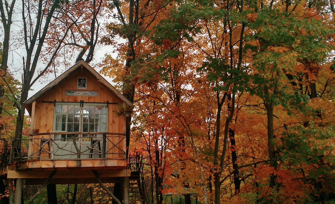 This treehouse in new york will give you an unforgettable for How much to build a house in northern virginia