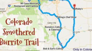 There's Nothing Better Than This Mouthwatering Smothered Burrito Trail In Colorado