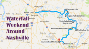 Here's The Perfect Weekend Itinerary If You Love Exploring Nashville's Waterfalls