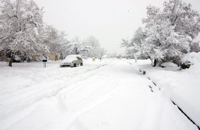 a massive blizzard blanketed new mexico in snow in 2006