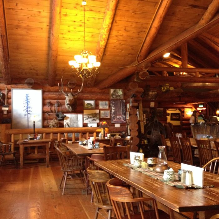 Visit the logging themed camp 18 restaurant in oregon for Clark s fish camp seafood restaurant