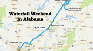Here's The Perfect Weekend Itinerary If You Love Exploring Alabama's Waterfalls