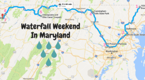 Here's The Perfect Weekend Itinerary If You Love Exploring Maryland's Waterfalls