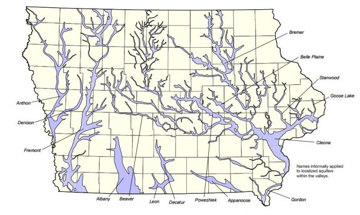 Most People Dont Realize An Underground River Flows Right Through - Map of iowa towns