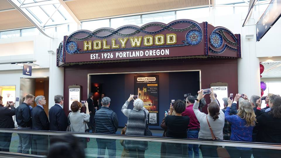 a movie theater was just installed inside the portland